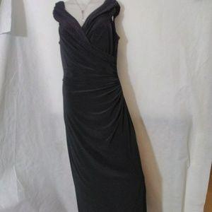 Ralph Lauren black sleeveless Maxi Evening Gown 12